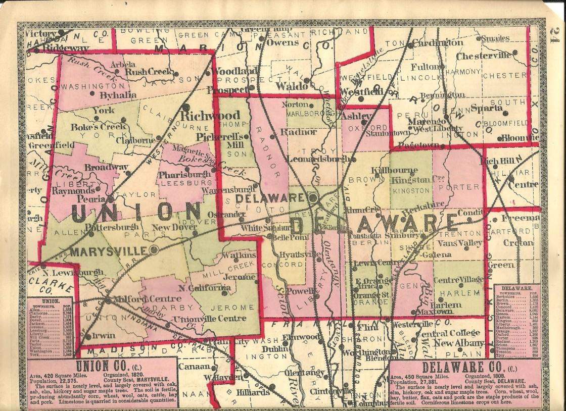 delaware county ohio map Delaware County Ohio Ghost Town Exploration Co delaware county ohio map