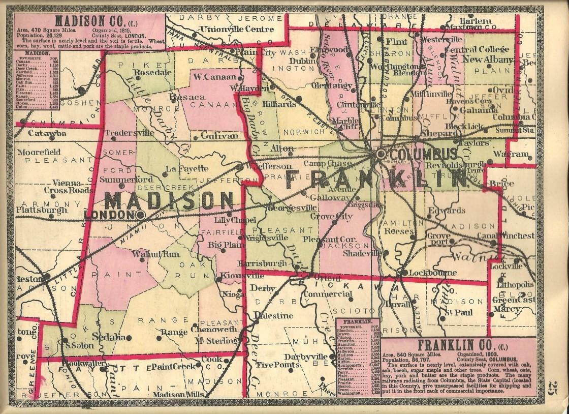 Ashley Ohio Map.Madison County Ohio Ghost Town Exploration Co