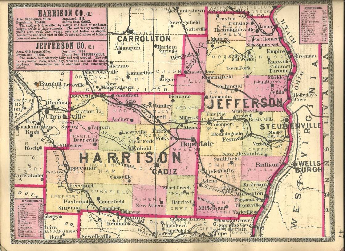 Ghost Town Colorado Map.Harrison County Ohio Ghost Town Exploration Co