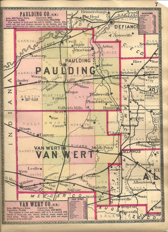 Van Wert County Ohio Ghost Town Exploration Co